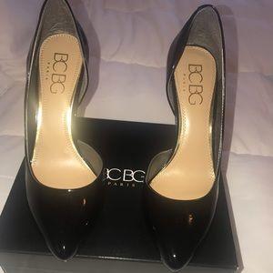 BCBG Black Patent Pumps